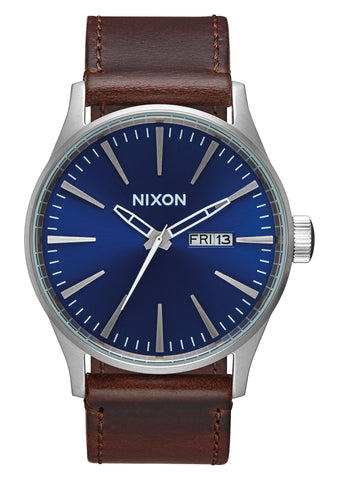 Nixon Sentry Leather Brown/Navy
