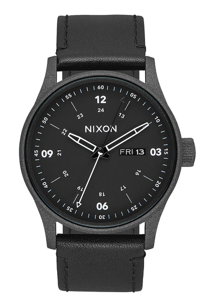Nixon Sentry Leather Cinder Cerakote/Black
