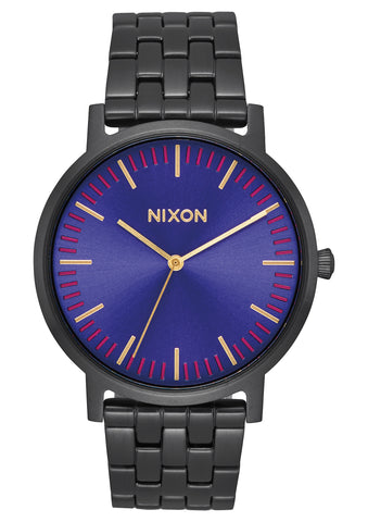 Nixon Porter All Black Purple Sunray