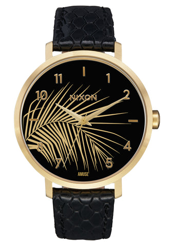 Nixon Arrow Leather Gold / Black / Palm