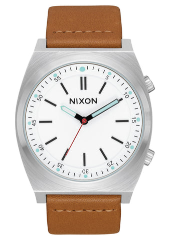 Nixon Brigade Leather Cream Taupe