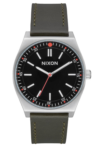 Nixon Crew Leather Silver/Black/Olive