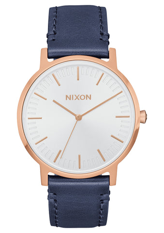 Nixon Porter 35 Leather Rose Gold/Navy/White