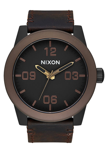 Nixon Corporal All Black/Brown/Brass