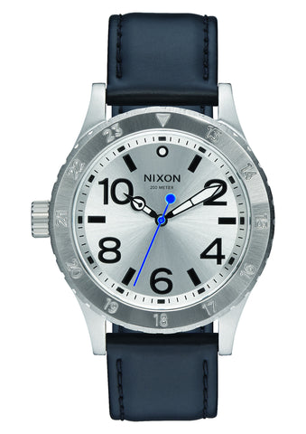 Nixon 38-20 Leather Silver/Black/Blue