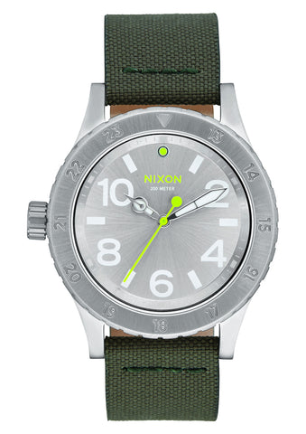 Nixon 38-20 Leather Silver/Surplus