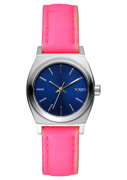 The Small Time Teller Leather Navy/Coral