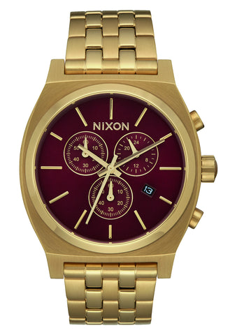 Nixon Time Teller Chrono All Gold/Deep Burgundy