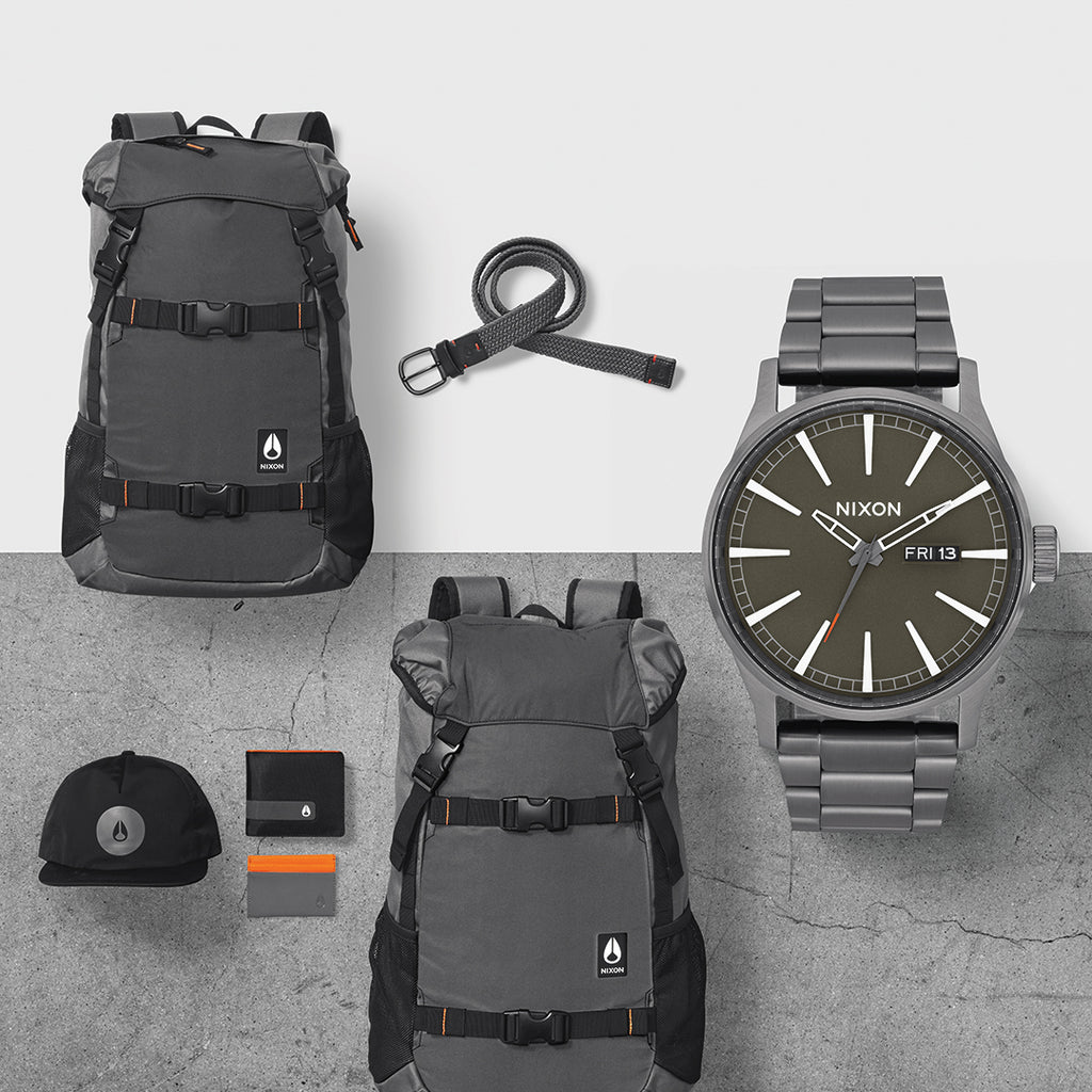 Nixon Gunmetal/Slate/Orange Pack