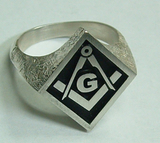 Masonic Sterling Silver Ring