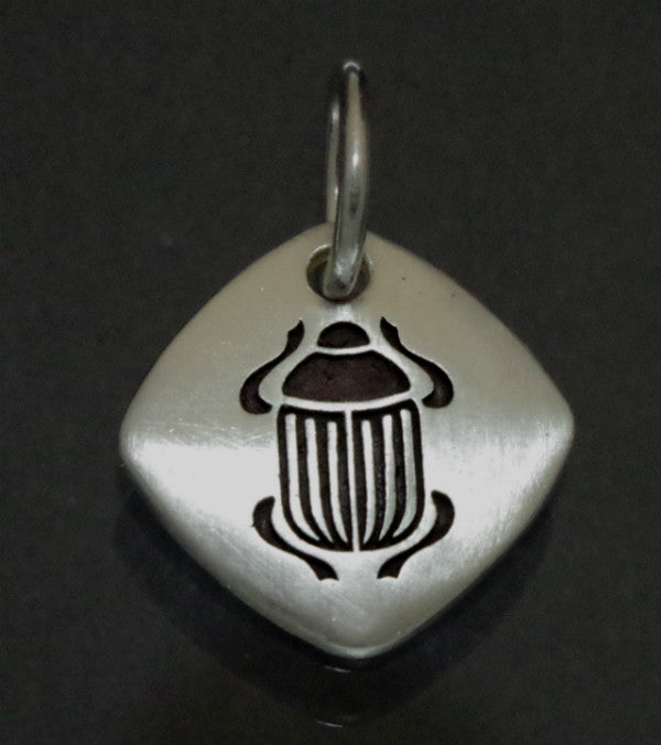 Sterling Silver pendant with Scarab symbol