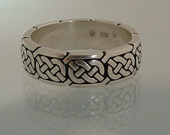 Sterling Silver Celtic wedding band