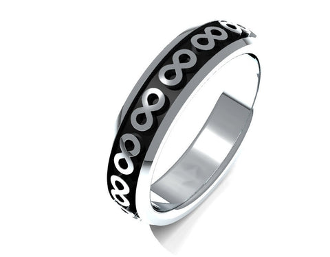 Sterling silver eternity wedding band