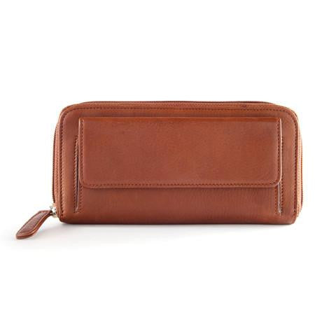 RFID Zip Round Clutch Wallet