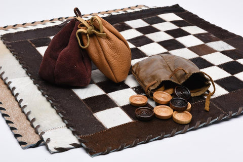 Cowhide Checkerboard Game