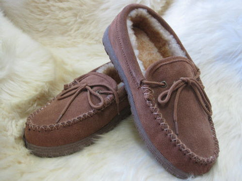 Ladies Sheepskin Moccasin Slipper