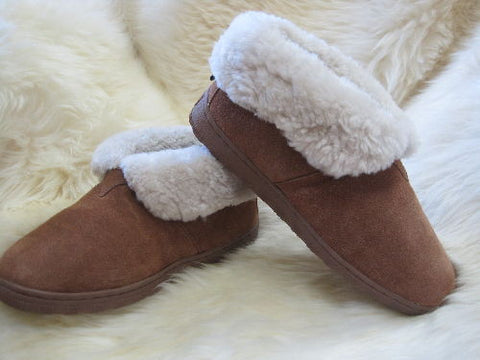 Ladies Sheepskin Bootie Slipper