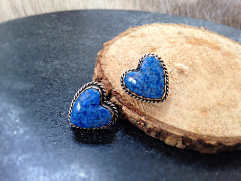 Joan Slifka Lapis Earrings