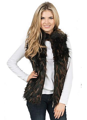 Montana Co.  Faux Fur Vest
