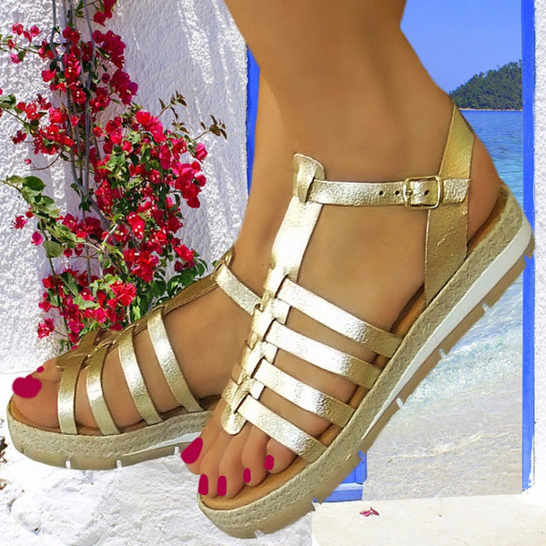 #InnovativeGreekSandals #flatsandals #weddingflats