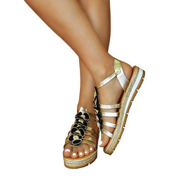 Alkioni Luxus Gold SLH - Low Heel platform