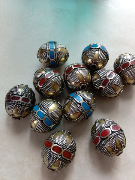 Central Asian Kazakh Brass Beads Pick Color and Quantity (#7864)