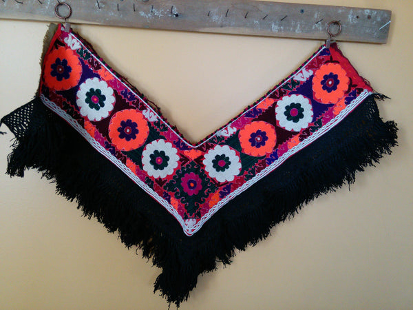 Vintage Uzbek Flower Segusha Central Asian Embroidery