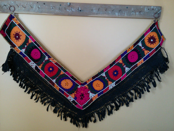 Vintage Uzbek Colrful Textile Segusha Central Asian Embroidery
