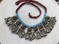 Vintage Tribal Pendant Necklace Balochi Ethnic Adornment (#6554)