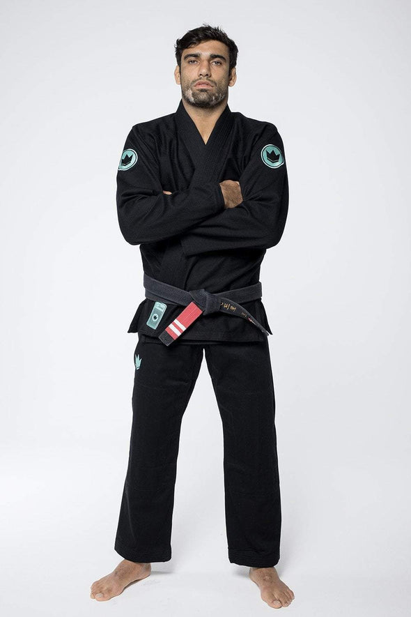 Classic 3.0 Jiu Jitsu Gi - Black - Arms Crossed Full front View