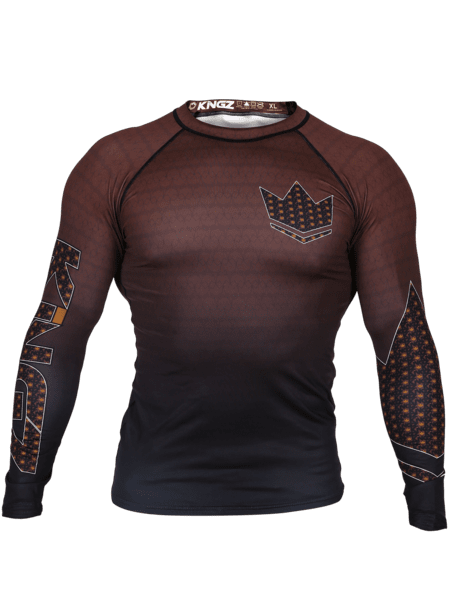 Crown 3.0 Ranked Rash Guard - Brown