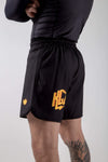 Kingz KGZ Shorts Orange Edition Side View with Logo