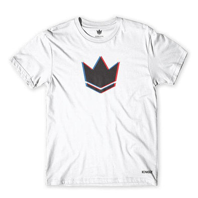 3D Kingz Crown Tee-White-Front View