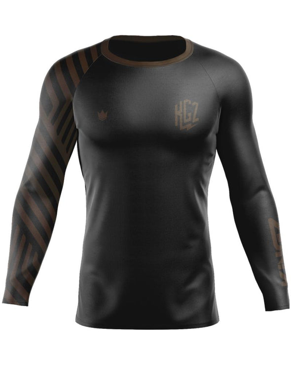 Kingz KGZ Ranked Rashguard-Brown