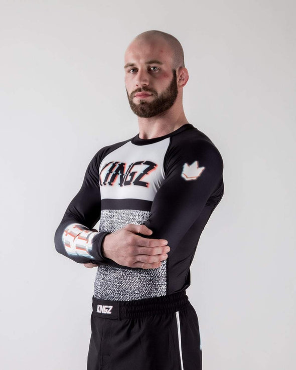 Kingz Static Rashguard diagonal facing