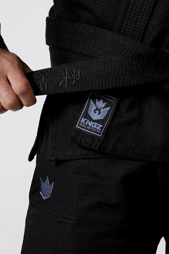 Balistico 3.0 Jiu Jitsu Gi - Black - Belt View