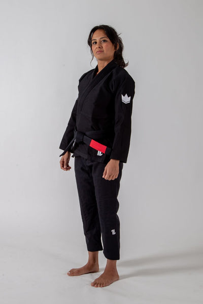 The ONE Womens Jiu Jitsu Gi - Black - FREE White Belt