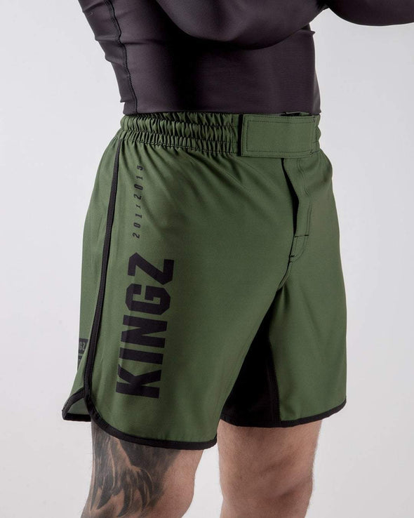 Kingz Army Shorts Side View of Logo