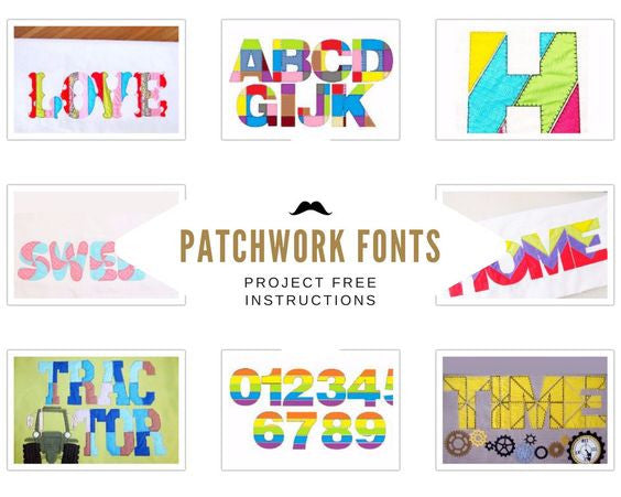 Patchwork style applique letters free instructions