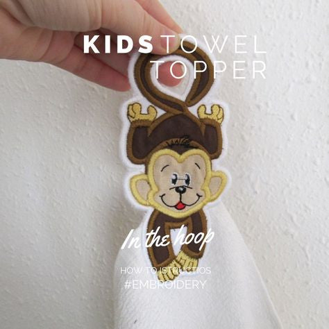 Simply ITH (In-The-Hoop) Kids Towel hanging hole