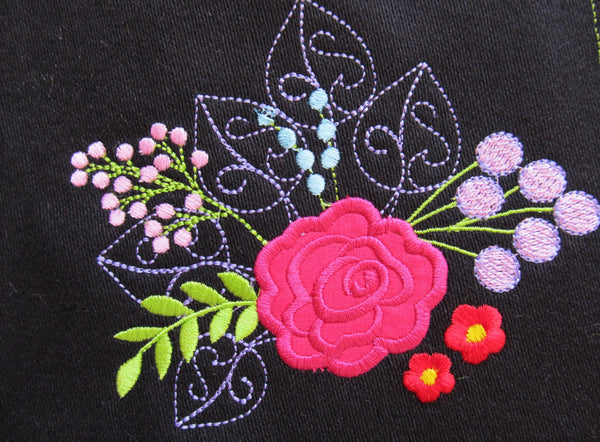 1 Little Shabby chic and urban flowers applique awesome unique embroidery designs