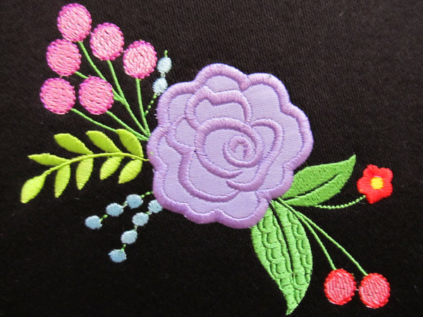 1 Delicate Shabby chic rose flower applique awesome unique embroidery designs