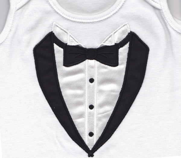 Baby Bond Tuxedo applique embroidery