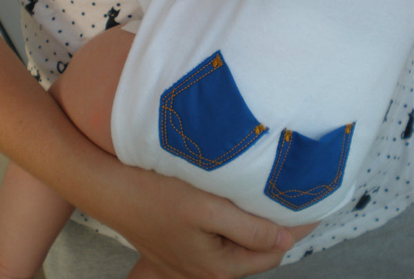 Baby functional pockets embroider in the hoop