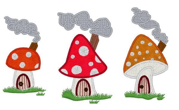 Gnome summer houses  embroidery and applique