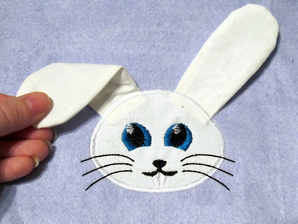 3D Easter Bunny In-the-hoop and applique