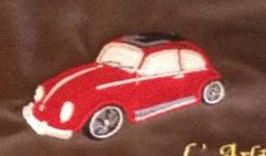 Car beetle embroidery and applique