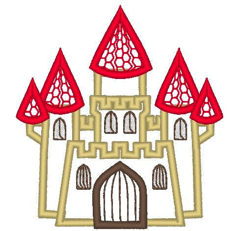 Castle embroidery and applique