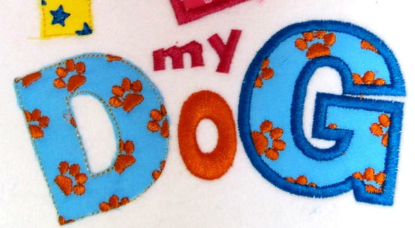 Doggy paws Font applique