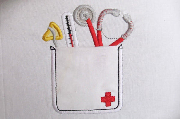Cute doctor functional pockets in the hoop